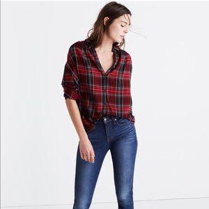 Madewell Central Long Sleeve Shirt Tartan Plaid